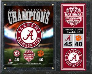 Alabama Crimson Tide 2015 National Champions Team Logo Plaque
