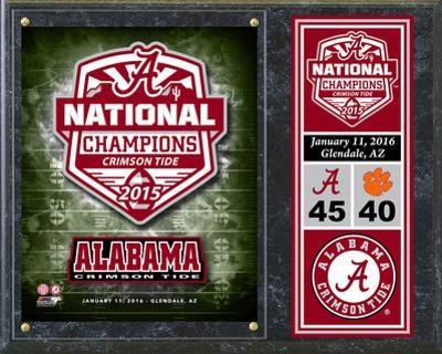 Alabama Crimson Tide 2015 National Champions Team Logo Plaque