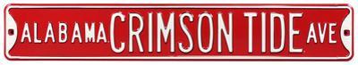 Alabama Crimson Tide Ave Steel Sign