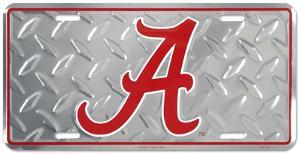 Alabama Crimson Tide Diamond License Plate