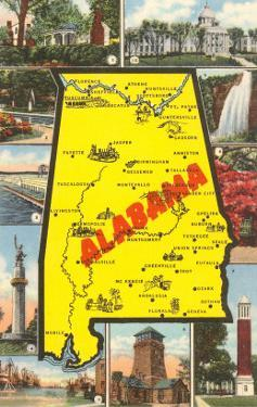 Alabama Map and Scenes