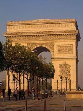 Arc De Triomphe at Dusk, Paris, France, Europe by Alain Evrard