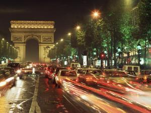 Avenue Des Champs Elysees and the Arc De Triomphe, Paris, France by Alain Evrard