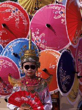 Boy in Shan Costume at Handicraft Festival, Chiang Mai, Thailand, Southeast Asia by Alain Evrard