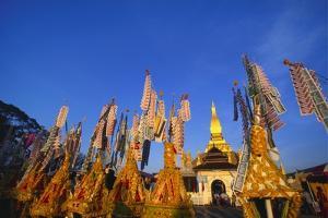 Celebrating Khao Pansaa at Pha That Luang Temple, Vientiane, Laos by Alain Evrard