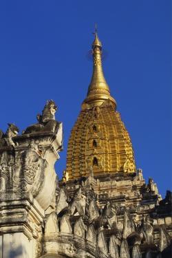 Golden Stupa of Ananda Pahto, Bagan, Myanmar, Indochina by Alain Evrard