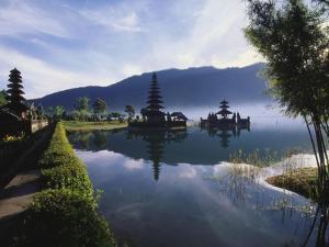 Hindu Temples at Lake Bratan, Pura Ulu Danau, Bali by Alain Evrard
