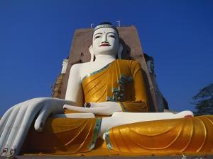 Large Statue of the Buddha at Kyaik Pun Paya, Bago, Myanmar by Alain Evrard