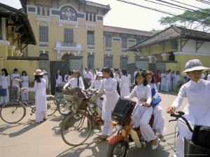 Nguen Thi Minh Khai High School, Ho Chi Minh City (Saigon), Vietnam, Indochina, Southeast Asia by Alain Evrard