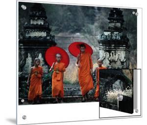 Novice Monks at Doi Kong Mu Temple, Mae Hong Son, Thailand by Alain Evrard