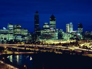Perth City Skyline, Western Australia, Australia, Pacific by Alain Evrard