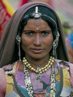 Portrait of a Desert Nomad Gypsy Woman, Rajasthan State, India by Alain Evrard
