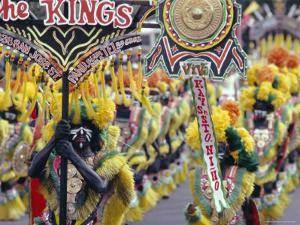 Procession, Ati Atihan Carnival, Kalibo, Island of Panay, Philippines, Southeast Asia, Asia by Alain Evrard