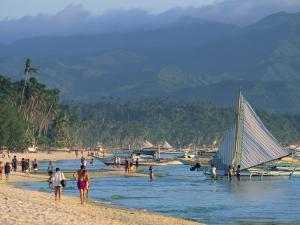 White Sun Beach, at the Resort of Boracay Island, Off Panay, the Philippines, Southeast Asia by Alain Evrard