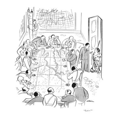 """""""Later!"""" - New Yorker Cartoon by Alain"""