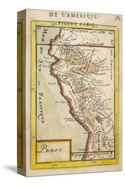 Peru, a Map Showing a Coastal Part of South America on the South Pacific by Alain Manesson Maller
