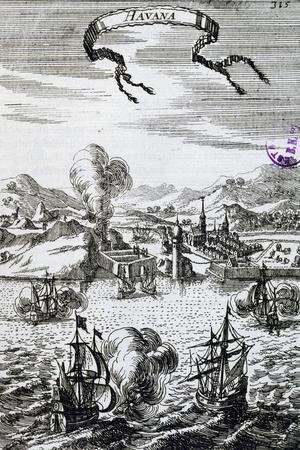 View of Havana, Cuba, Engraving from Description De L'Univers
