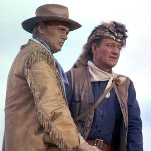 Alamo by JohnWayne with Richard Widmark and John Wayne, 1960 (photo)