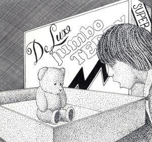 Boy Scolding His Teddy Bear by Alan Baker