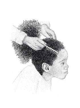 Girl in Hair Salon by Alan Baker