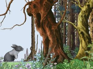 Landscape with Mouse and Forest by Alan Baker