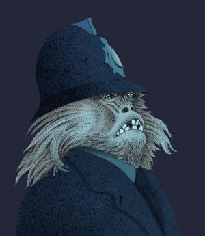 Monkey in Police Uniform by Alan Baker