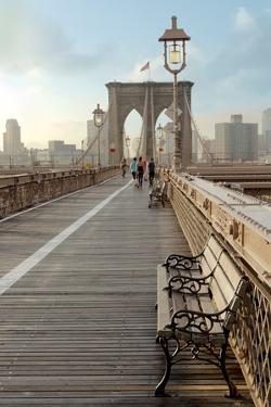Brooklyn Bridge Walkway No. 2 by Alan Blaustein