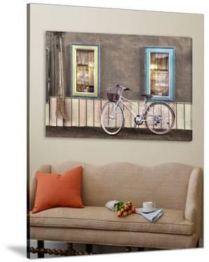Café Bike Ride by Alan Blaustein