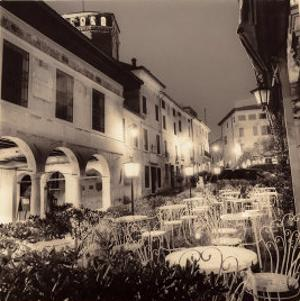 Caffe, Asolo, Veneto by Alan Blaustein