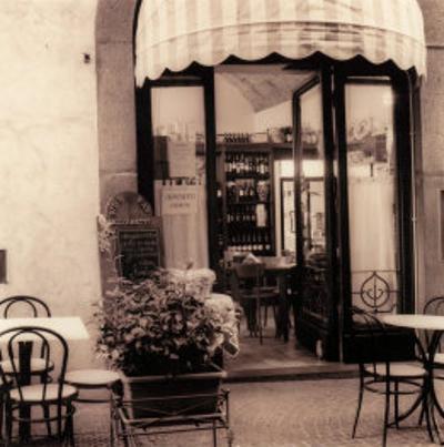 Caffe, Umbria by Alan Blaustein
