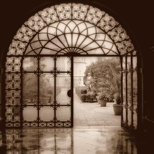 Courtyard in Venezia (sepia) by Alan Blaustein