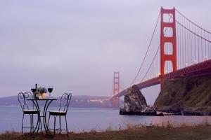 Dream Cafe Golden Gate Bridge #35 by Alan Blaustein