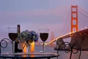 Dream Cafe Golden Gate Bridge #41 by Alan Blaustein