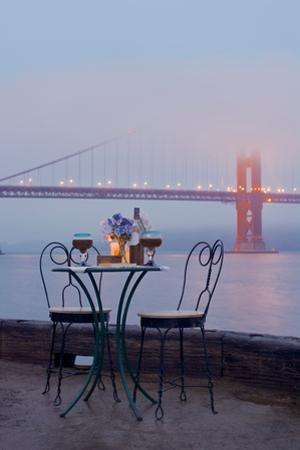 Dream Cafe Golden Gate Bridge #52 by Alan Blaustein