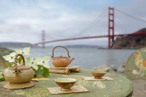 Dream Cafe Golden Gate Bridge #66 by Alan Blaustein