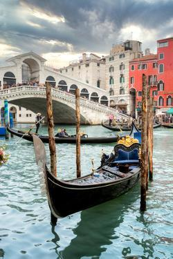Gondola Rialto Bridge #1 by Alan Blaustein