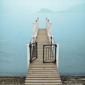 Menaggio Pier by Alan Blaustein