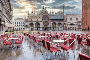 Piazza San Marco At Sunrise #14 by Alan Blaustein