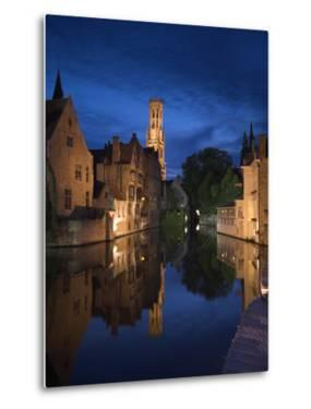 Belfort and River Dijver, Bruges, Flanders, Belgium by Alan Copson