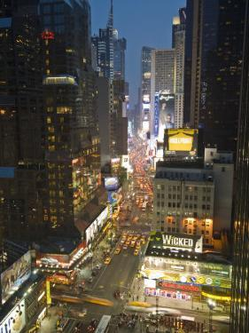 Broadway Looking Towards Times Square, Manhattan, New York City, USA by Alan Copson