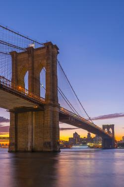 Brooklyn Bridge over East River, New York, United States of America, North America by Alan Copson
