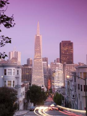 California, San Francisco, Downtown and Transamerica Building from Telegraph Hill Historic District by Alan Copson