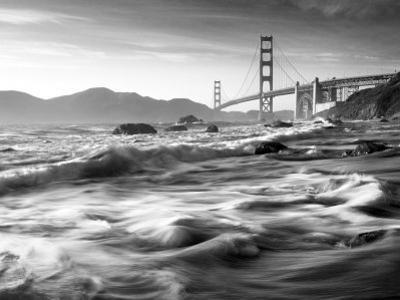 California, San Francisco, Golden Gate Bridge from Marshall Beach, USA