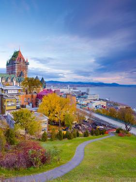 Canada, Quebec, Quebec City, Vieux Quebec or Old Quebec, Chateau Fontenac by Alan Copson