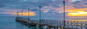Caribbean, Barbados, Speightstown at Sunset by Alan Copson