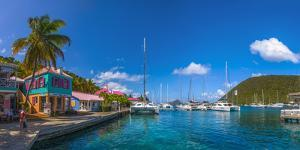 Caribbean, British Virgin Islands, Tortola, Sopers Hole by Alan Copson