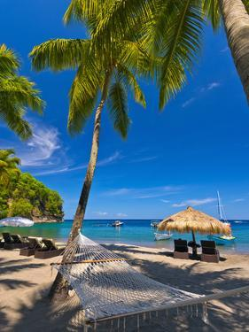 Caribbean, St Lucia, Soufriere, Anse Chastanet, Anse Chastanet Beach by Alan Copson