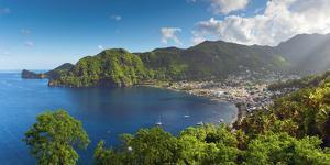 Caribbean, St Lucia, Soufriere, Soufriere Bay by Alan Copson