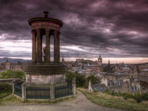 Carlton Hill, Stewart Monument, Edinburgh, Scotland, UK by Alan Copson