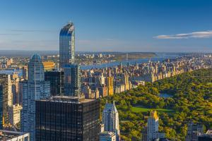 Central Park, One57 Building on Left, Midtown, Mahattan, New York by Alan Copson